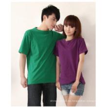 Camisa de algodón personalizada, camiseta CVC Spandex