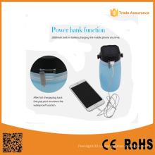 Солнечная энергия USB выход Перезаряжаемый светодиодный фонарь кемпинга