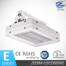 60W CE RoHS Certificated o posto de gasolina de alto lúmen LED / luz do dossel