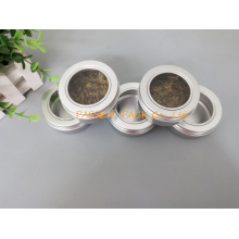 Lata de lata de alumínio do metal 80g com tampa do parafuso da janela (PPC-ATC-80)