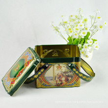 Caja de regalo de encargo de la lata del té del logotipo para la promoción