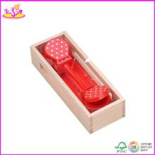 2014 meistverkauften Holz Castanet Spielzeug, neue und beliebte Kastagnetten Spielzeug, Mini Kinder Kastagnetten Spielzeug W07I036
