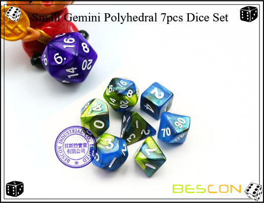 Small Gemini Polyhedral 7pcs Dice Set-2