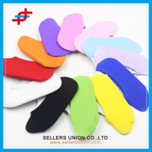 new arrival kid's pure color muti-color bulk invisible socks