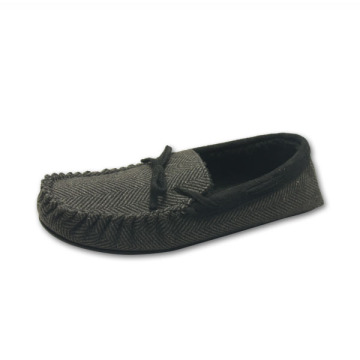 Men fur lining moccasins home loafers slippers