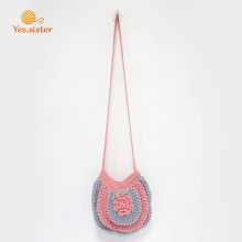 Crochet Handmade Flowers Lady Handbag