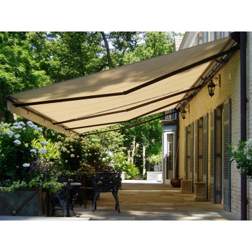 Toldo retráctil manual para patio exterior