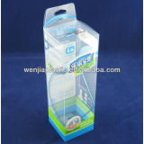 PP plastic clear packaging folding Box with clear lid