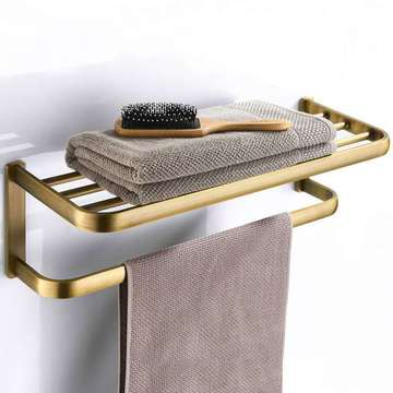 Accessoires de salle de bains de matériel, étagère de salle de bains, porte-serviettes antique en cuivre