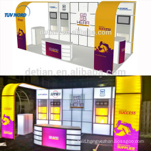 Detian Offer promotional display stand trade show booth exhibit display design booth