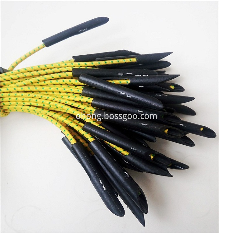 Elastic tie for scaffolding net