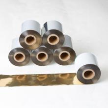 Melhor qualidade de vestuário impressora ttr compatível brilhante cor de ouro impressora de código de barras fita de transferência térmica