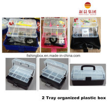 2-Tray Black Assorment Fishing Tackle Boxes