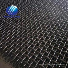 Minas de cantera malla de acero 65Mn malla vibratoria con malla trituradora de piedra de gancho