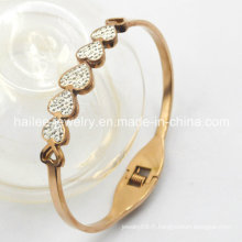 Bracelet en cuir en acier inoxydable