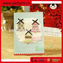 8 Design gemischte kostenlose handgemachte 3d Weihnachtskarten gedruckt