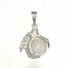 Cristal d'argent sterling 925 pendentif sphère 15MM sphère dragon pendentif bijoux
