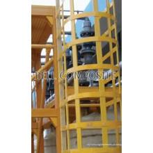Escada de gaiola FRP para torre de resfriamento e máquina