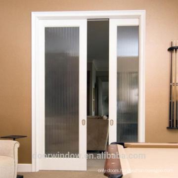Customized Glass and wood pocket sliding door