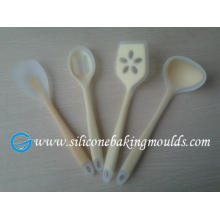 Transparent Non-stick Silicone Cooking Spoons For Kitchen Utensils Set