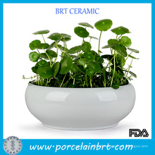 High Quality White Porcelain Hydroponic Pots