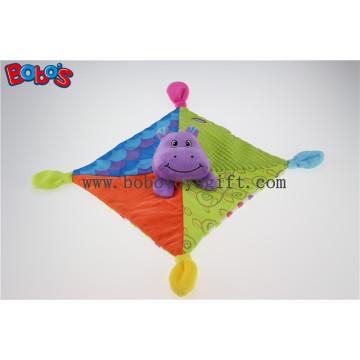 "10 ""de colores de felpa de hipopótamo consolador Baby Saliva toalla de bebé relleno Doudou"