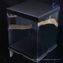 Carré personnalisé logo papier d'art papier gâteau emballage boîte de papier