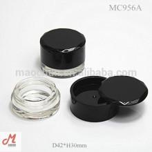 MC956A avec couvercle rotatif cosmétiques eye liner gel container / liner gel packaging / liner gel case