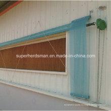 Sistema de almohadilla de enfriamiento evaporativo para equipos de granja avícola