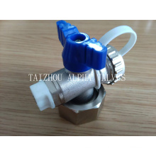 Brass Ball Valve with Plastic Tape and Removed Nut (a. 8002)