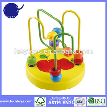 Beads Toy Baby Around Wooden Wire Maze