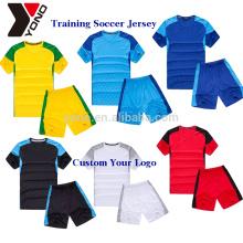 2017 обучение униформа устанавливает высокое качество создать свой собственный Спорт Футбол Джерси футбол Джерси