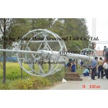 Supply for Monopole Transmission Tower Hot Dip Galvanized Monopole Tower with template base export to Reunion Factory