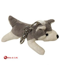 Llavero personalizado del husky de la felpa del diseño del OEM