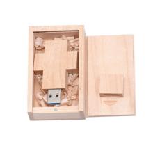 KABEST Wooden cross usb 16GB 32GB custom logo usb wood pen drive usb flash