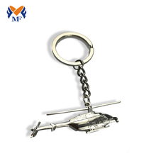 Custom make metal airplane keychain