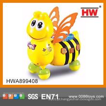 Engraçado desenhos animados musical abelha b / o plástico brinquedos em massa de brinquedos para crianças