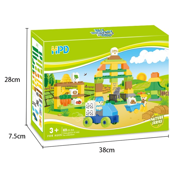 Plastic Building Blocks Construction