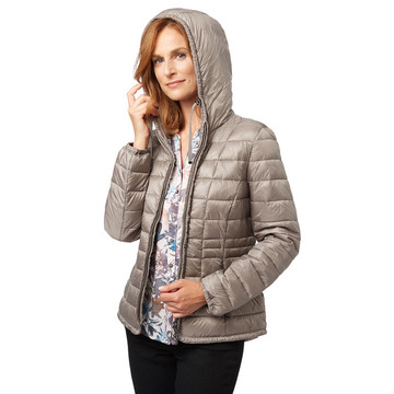 Kvinnor Ultra Light Down Duck Hooded Jacket