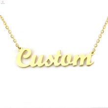 Personalisierte Namen Monogramm Namensschild Halskette