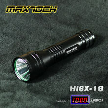 Maxtoch HI6X-18 cris T6 LED Power Style conduit lampe de poche tactique