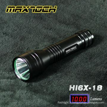 Maxtoch HI6X-18 Cree LED nouveau Design lampe de poche Multi fonctionnel
