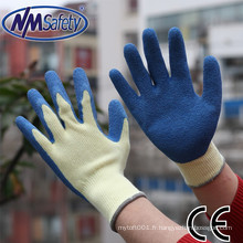 NMSAFETY Gant de coton de calibre 10 avec latex girp gants de travail gants de sécurité