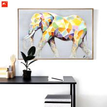 Cartoon Cute Animal Colorful Elephant Canvas Oil Painting