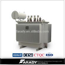 Transformador de potencia de 0,4kv de paso de 3 fases