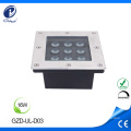 16W square outdoor paving led floor light