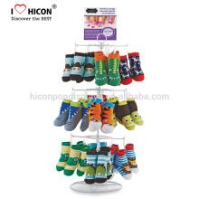 Marca Detrás de las marcas Independiente o de mesa de venta al por menor calcetines Pantalla para lograr los objetivos de ventas y reforzar su imagen de marca