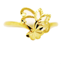 Flower & Leaf Ring 18 K