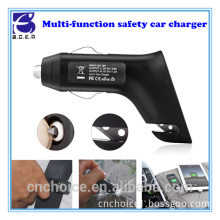 3 IN 1 Dual port uk smart car battery charger with belt cutter