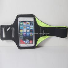 Braçadeira preta da aptidão do esporte do lycra para o iphoneX